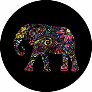 Abstract Elephant Tire Cover