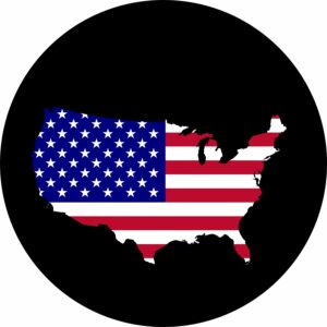 USA State of Mind Tire Cover