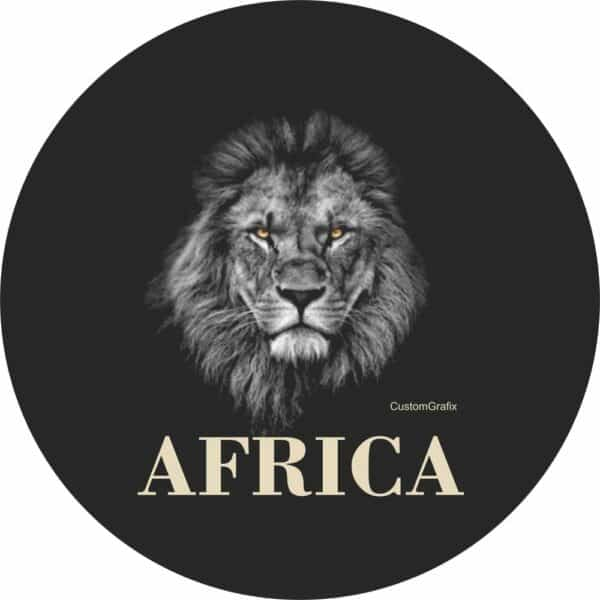 African Lion Tire Cover